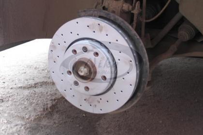 Фотография Renault Fluence NEW. Тормозные диски Zimmerman перфорированные